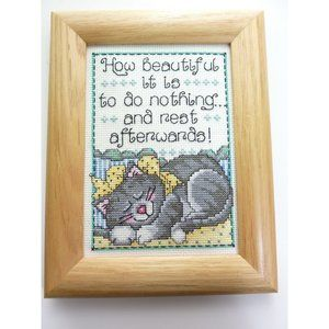 Cross Stitch How Beautiful It Is To Do Nothing